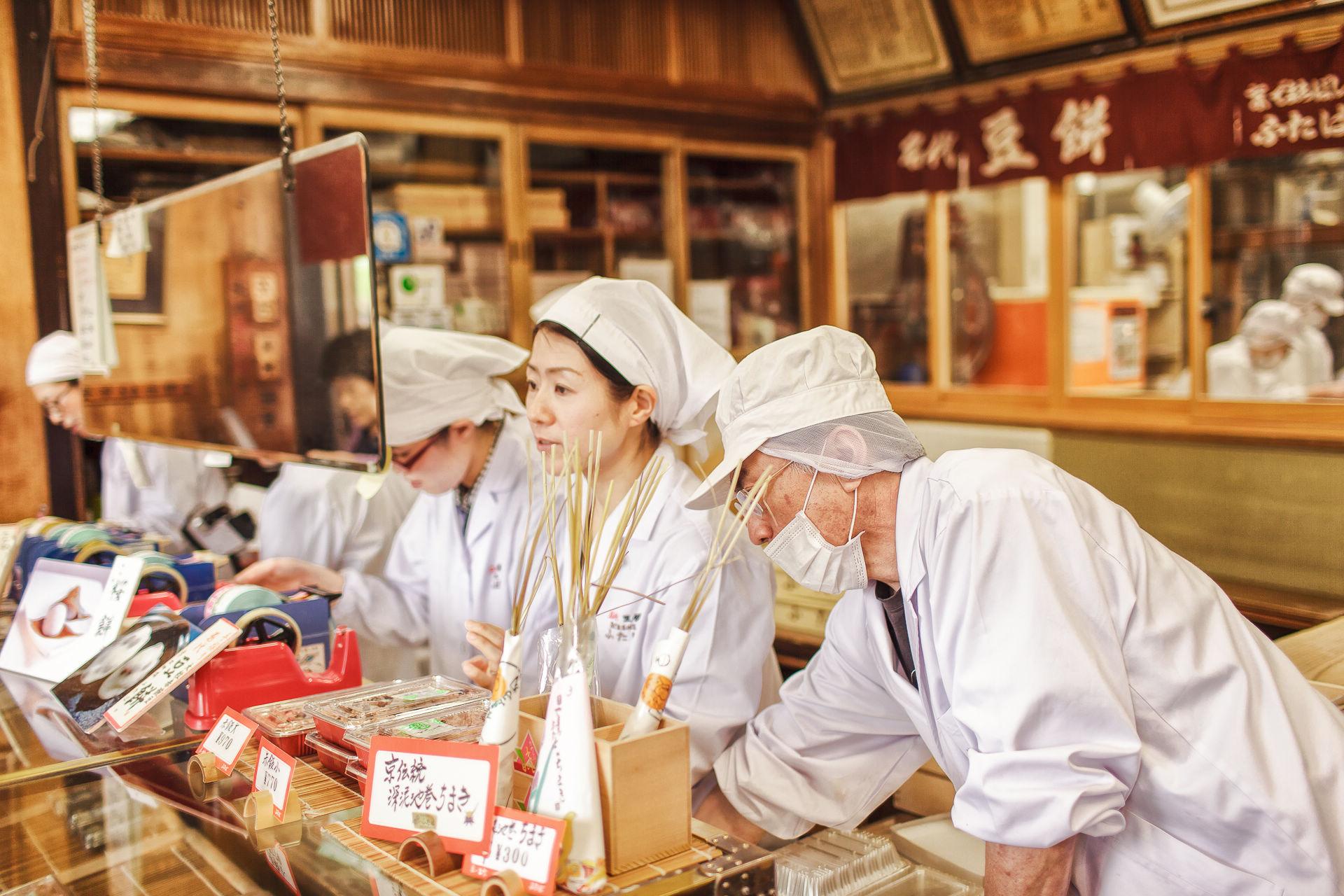【京都拍婚紗】美食 – 二葉代豆餅、出町岡田商会