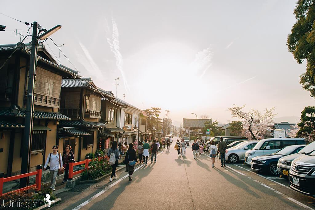 【京都拍婚紗】景點 – 八阪神社的夕陽