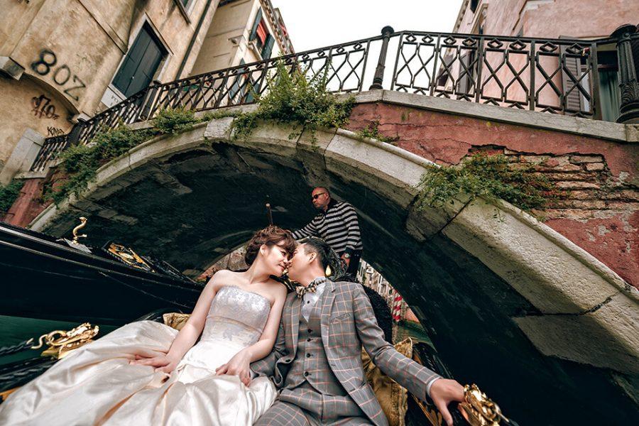 【來去義大利拍婚紗】特色 – 貢多拉船上